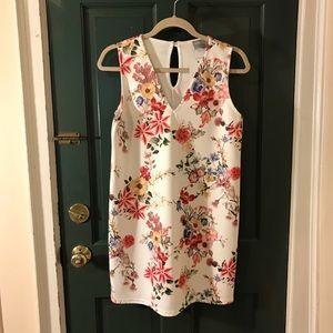 ASOS Petite White Floral Mini Dress